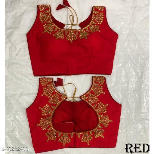 Red Silk Aagam petite women blouse
