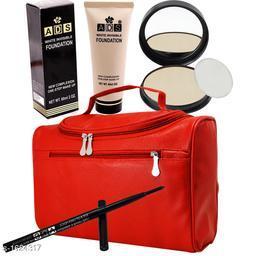 Premium Choice Foundation & Eye_Lip liner & Hand Bag & Compact  Combo
