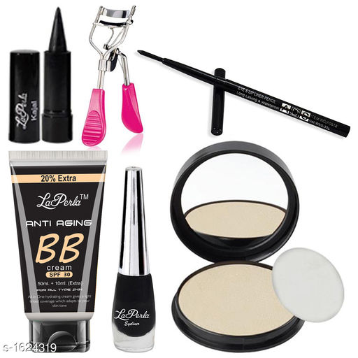 Premium Choice Foundation & Eye_Lip liner & Eyelashes Curler ( Assorted Color ) & Compact & Kajal & Eye liner