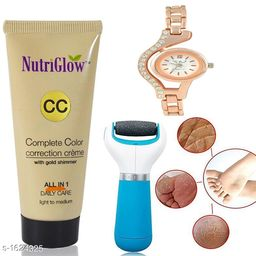Premium Choice Cream & Callus Remover & Wrist Watch  Combo