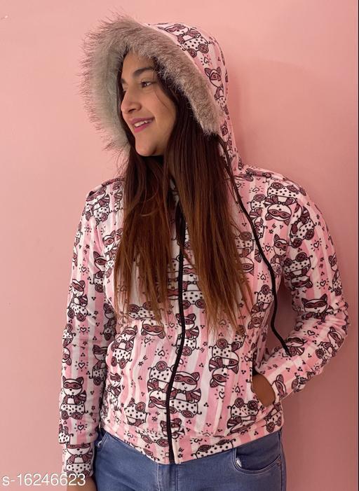 Mialo OWL print open zip sweatshirt