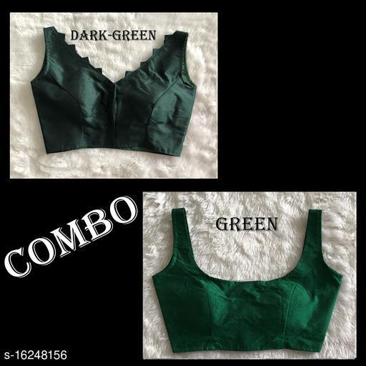 Green Silk Aagam petite women blouse