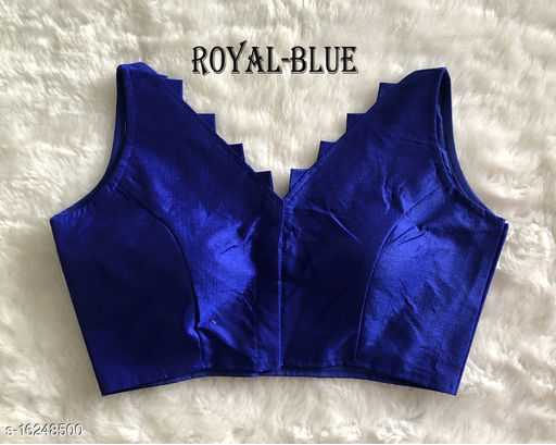 Blue Silk Aagam petite women blouse