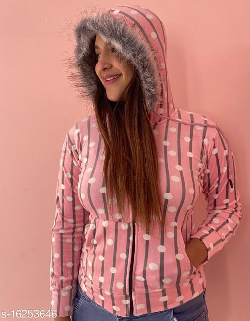 Mialo Circle print open zip sweatshirt