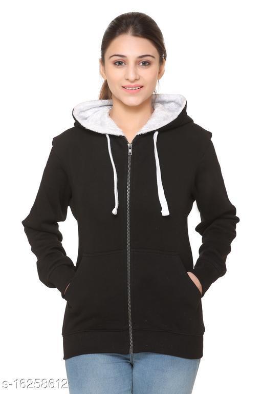 DYE VRGIN Women's Hooded Sweatshirt With Front Full Zipper