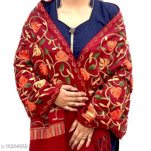 Attractive  Women's Brown Woolen Stoles