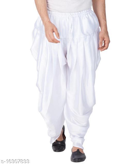 Men's White Patiyala Dhoti  (free size )