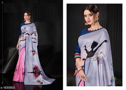Partywear Linen Saree
