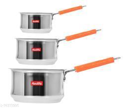 22 Gauge Heavy Stainless Steel Belly Sauce Pan (1,1.5,2 Liter)
