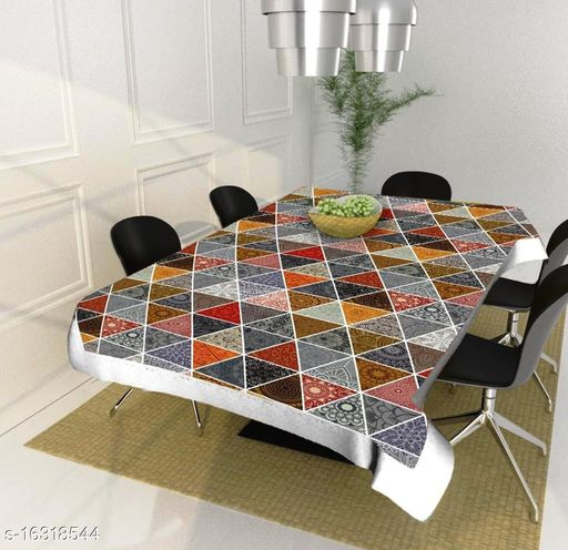 Sandal Decors dinning table cover plastic 4 seater ( 40 x 60 Inches )