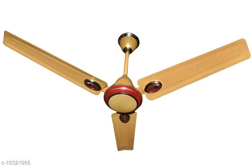 RPM AEROMETIC 1200 mm 3 Blade Ceiling Fan (GOLDEN, Pack of 1)