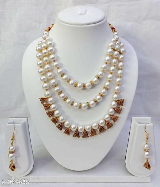 Women's Oxidised Gold Jewellery Set