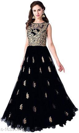 Women's Black Net Gown