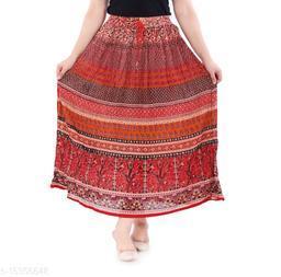 Jaipuri Printed Crepe Skirt