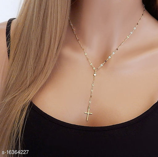 Arzonai Fashion personality trendy exaggerated items retro cross pendant clavicle necklace