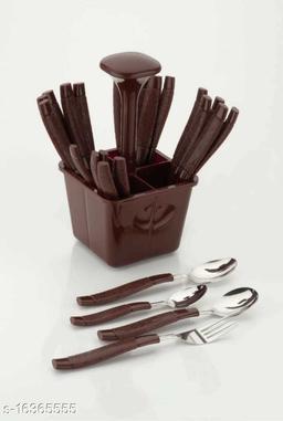 Loozito Vivo Brown Stainless Steel Cutlery Set(Brown)