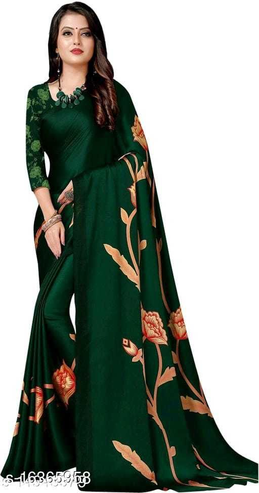 Soft silk JAPAN CREPE fancy saree with Separate Blouse Piece