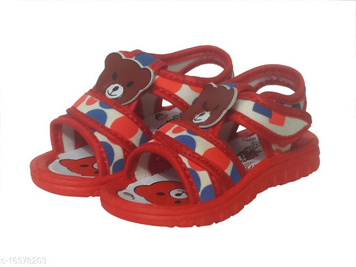 Stylish Boy's Synthetic Red Sandals