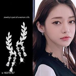 ARZONAI Silver Crystal Stones EarCuff Earrings For Women and Girls…