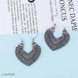 Arzonai Silver Oxidized Dangler Earrings for Women & Girls…