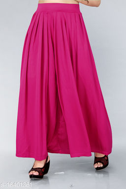 Trendy Womens Plazzo(Size:-26 to 38)(Colour And Design Will Not Same As Photo Always All The Time)