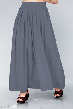 Trendy Womens Plazzo(Size:-26 to 38)(Sometimes Color And Design Not Same As Photo).