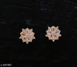 Neelam Stylish Gold Plated American Diamond Studs for Women & Girls