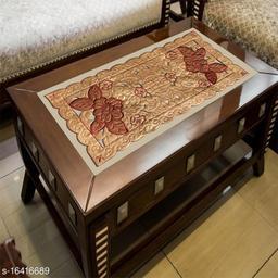 Groki Cotton Designer Table Runner (Beige)