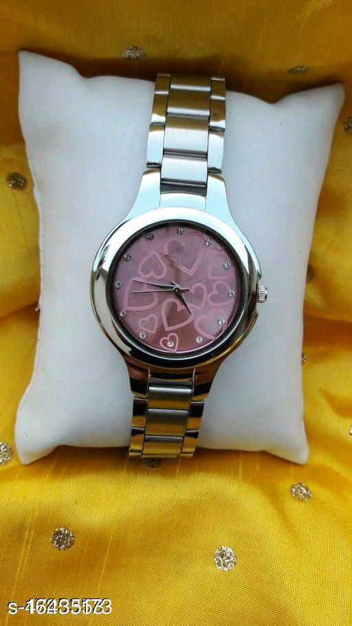 HRV Best Collection Women SS Silver Heart Dial Analog Watch