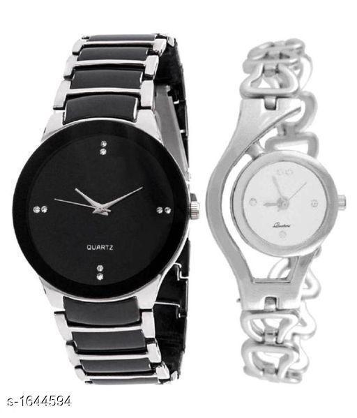 Trendy Analog Couple Watches Combo