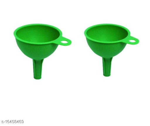 HARDIK TRADERS Silicone Rubber Funnel for Kitchen,Oil, Sauce, Water, Juice, Small Food-Grains pack of 2