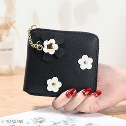 Valerie Women Girls Small Wallets Purse Card Coin Holder Zipper Mini Wallet