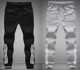 Trendy Cotton Blend Men's Track Pant (Pack Of 2)
