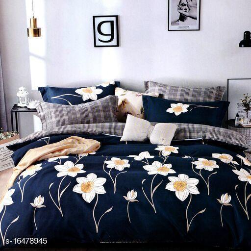 Stylish Glacecotton  90 x 100 Double Bedsheets