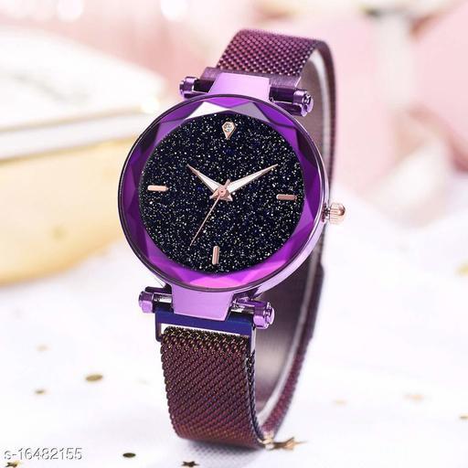 megnetic watch Analogue Women's Watch (Black Dial)