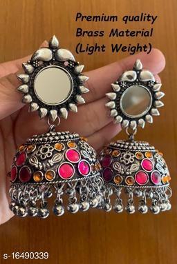 Premium Quality Light Weight Pink Orange Color jhumki Earrings