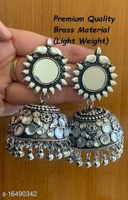 Premium Quality Light Weight Pink White Color jhumki Earrings