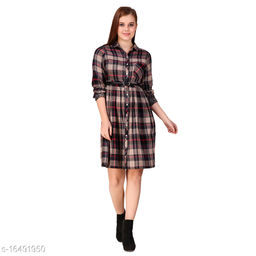 TEXCO checks cotton Long Sleeves Shirt  For Women