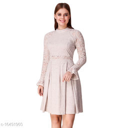 TEXCO Solids cotton Bell Sleeves Fit & flare  For Women