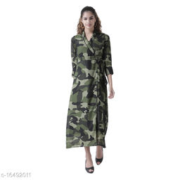 TEXCO printed Georgette Three quarter Sleeves Wrap  For Women