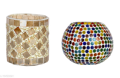 Hand Decorative Tea Light/ Candle Holder For Colorful Attractive Atmosphere