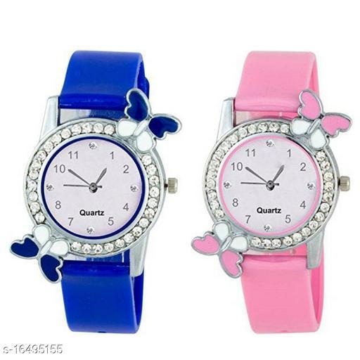 Multi Color Butterfly Diamond Girls Watch