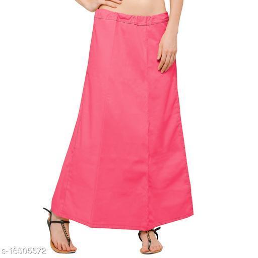 Raj Women's Cotton Petticoat - Peach_ Free Size Upto 26-40