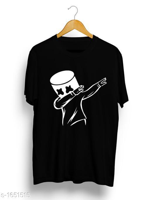 Fancy Knit Pure Cotton Printed Men's T-shirt