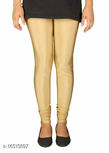 EPILOG Dyeable Women Gold Lycra Legging | Dyeable Fabric | Skin Friendly Fabric | Lycra Fabric |All Size Available | Gold Color-Small