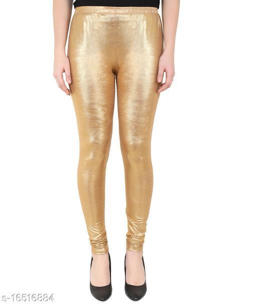EPILOG Shimmer Golden Legging| Woamns Golden Legging | Stretchable Legging Size Abailable ( 28 to 40)