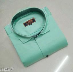Mens Slim Fit Spread Collor Pista Color Shirt