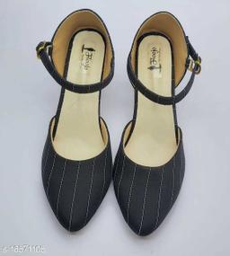 BEAUTIFUL SWIKRITI BLACK stripe toe pointed pumps