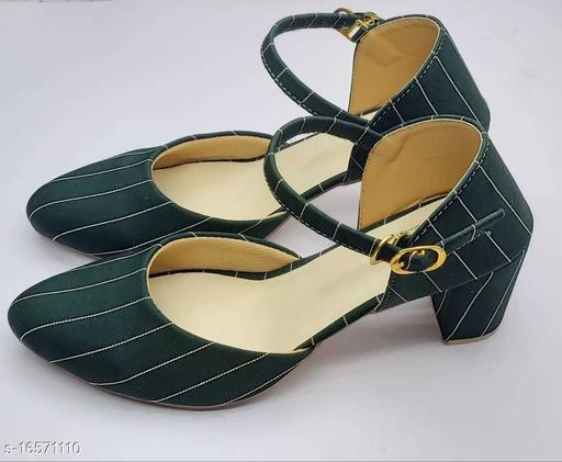 Attractive Women's Mesh Green Heels