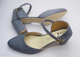 BEAUTIFUL SWIKRITI GREY stripe toe pointed pumps